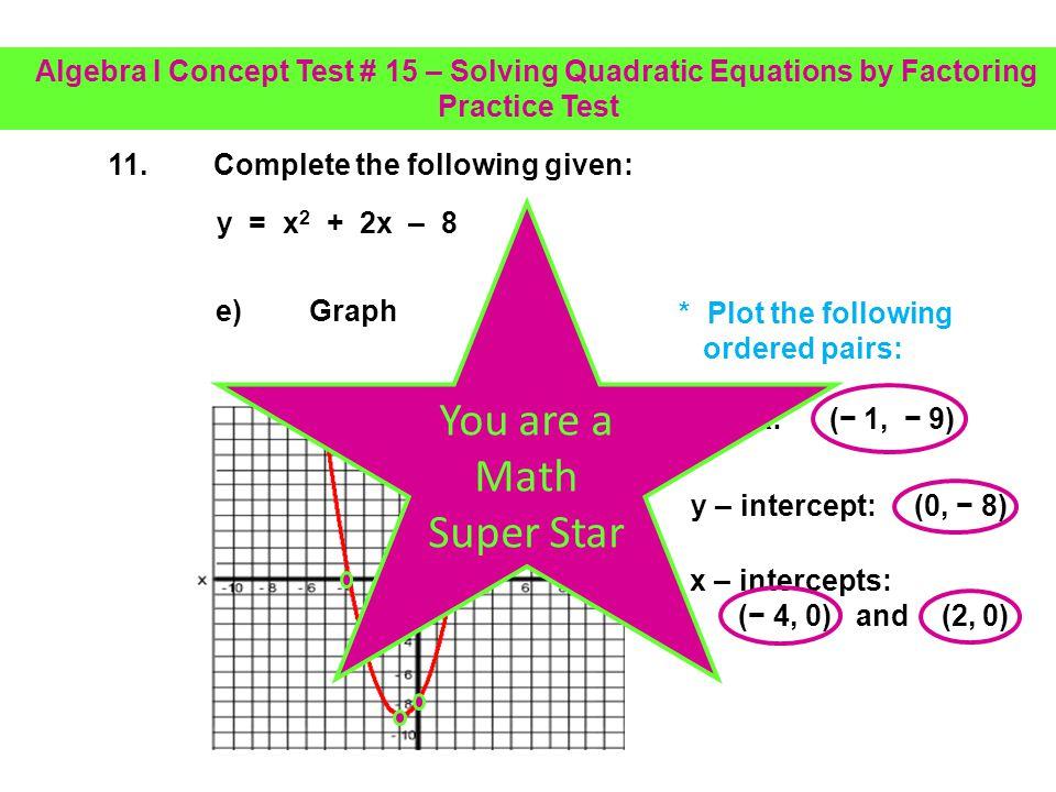 You are a Math Super Star