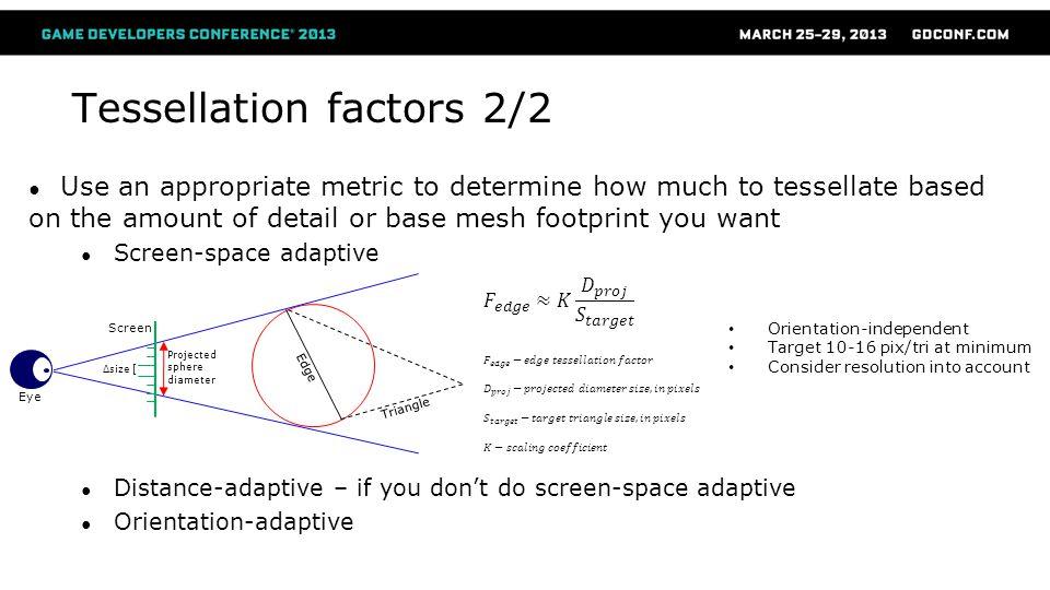 Tessellation factors 2/2
