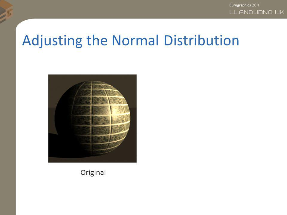 Adjusting the Normal Distribution