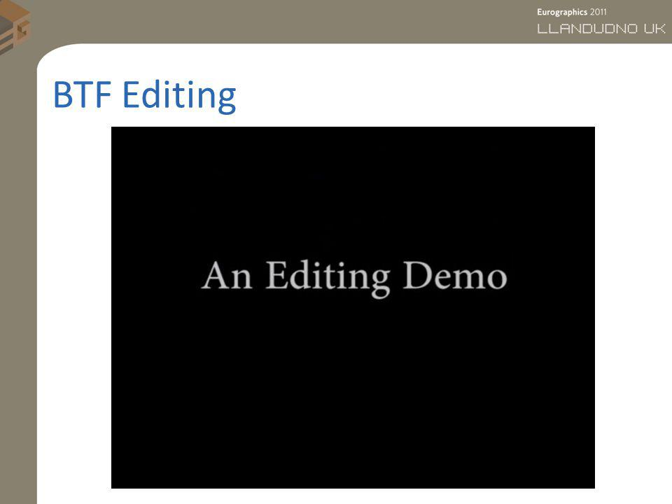 BTF Editing