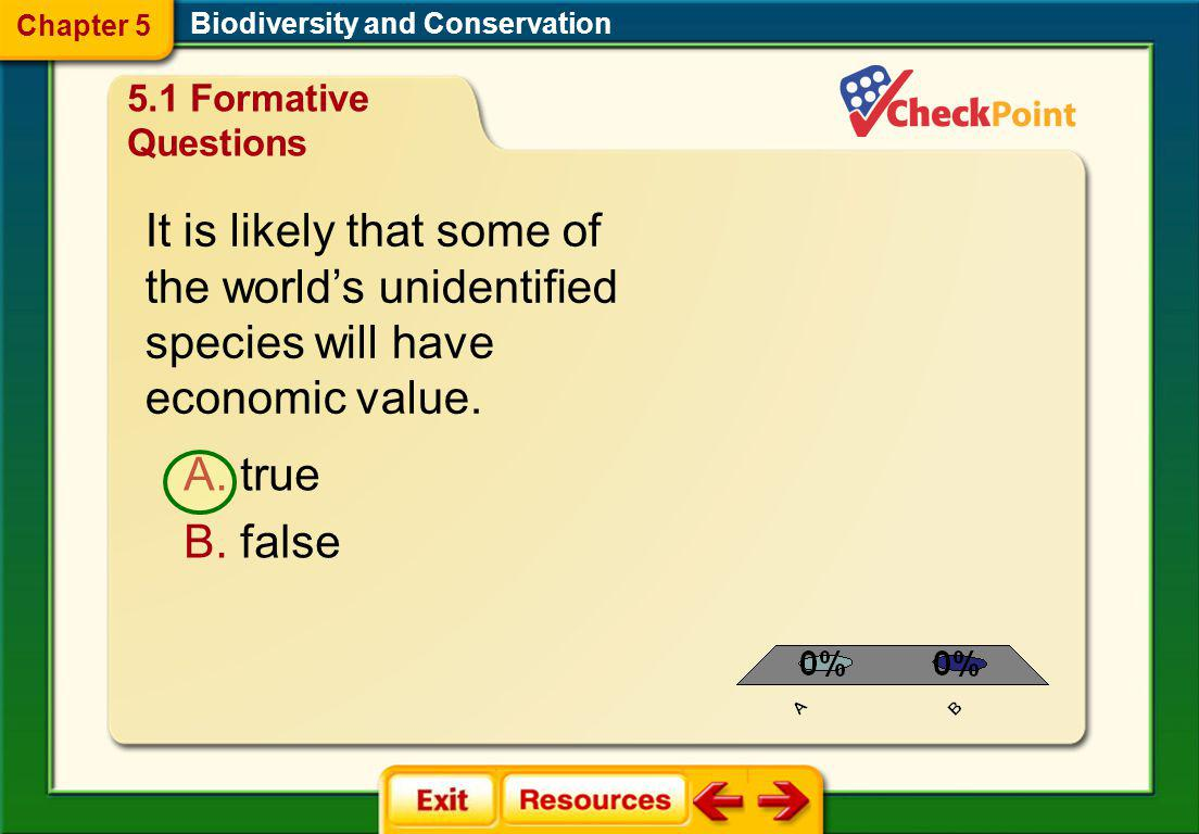 Chapter 5 Biodiversity and Conservation. 5.1 Formative Questions.