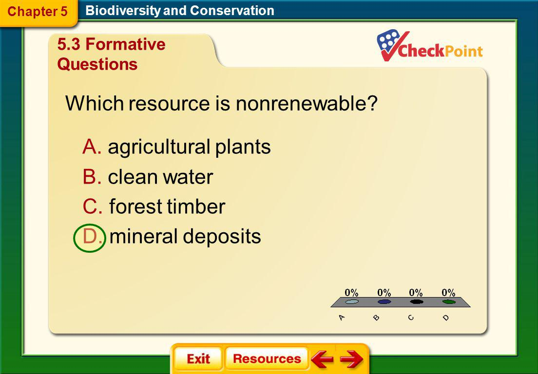 Which resource is nonrenewable