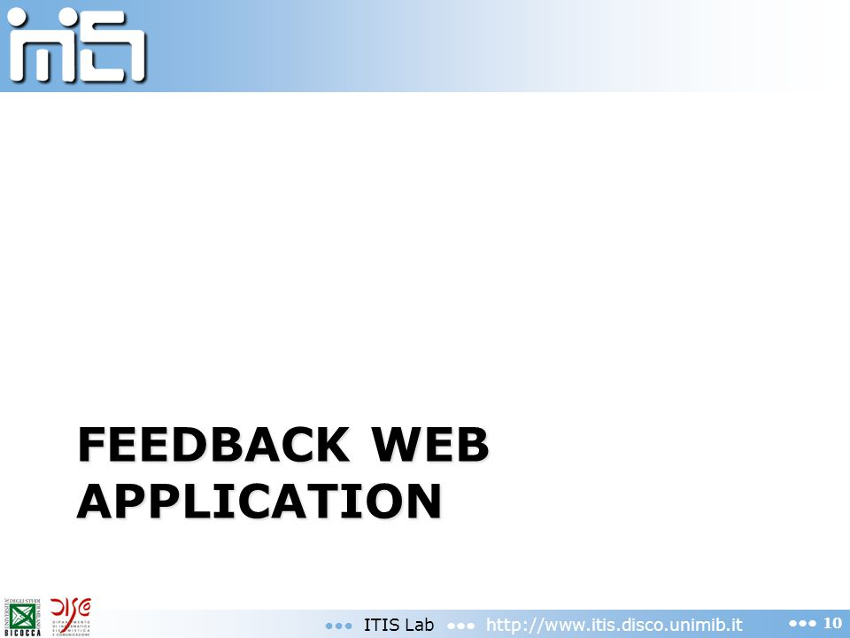Feedback web application