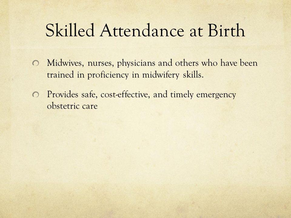 Skilled Attendance at Birth