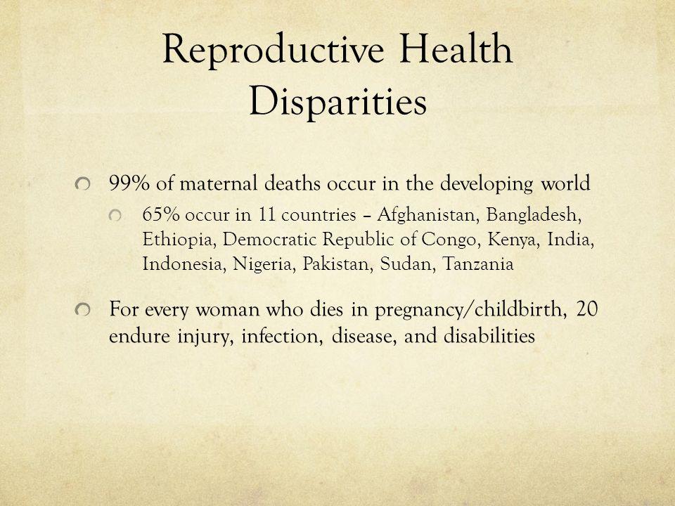 Reproductive Health Disparities