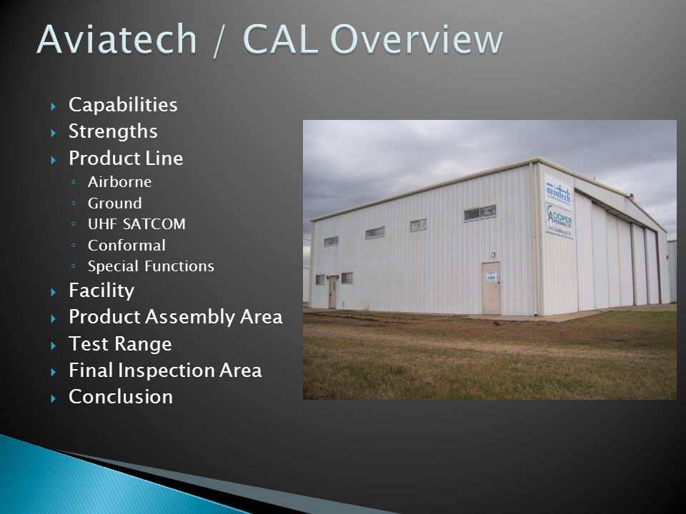 Aviatech / CAL Overview