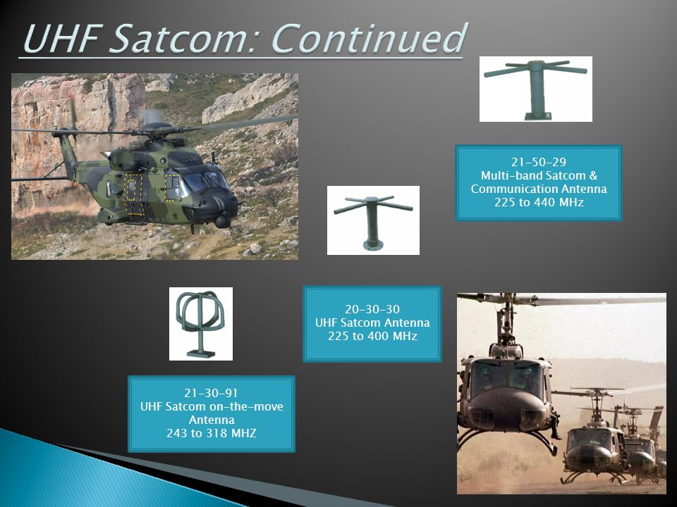 UHF Satcom: Continued 21-50-29