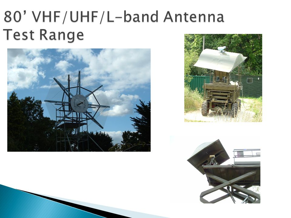 80' VHF/UHF/L-band Antenna Test Range