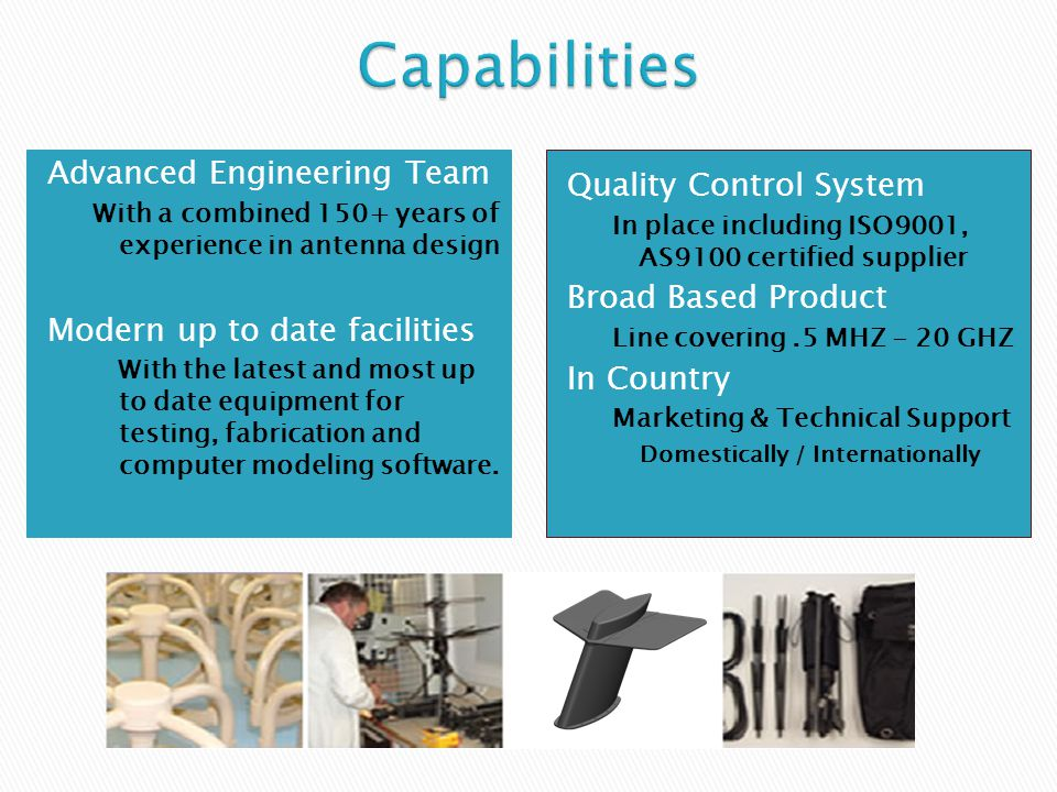 Capabilities Advanced Engineering Team Quality Control System