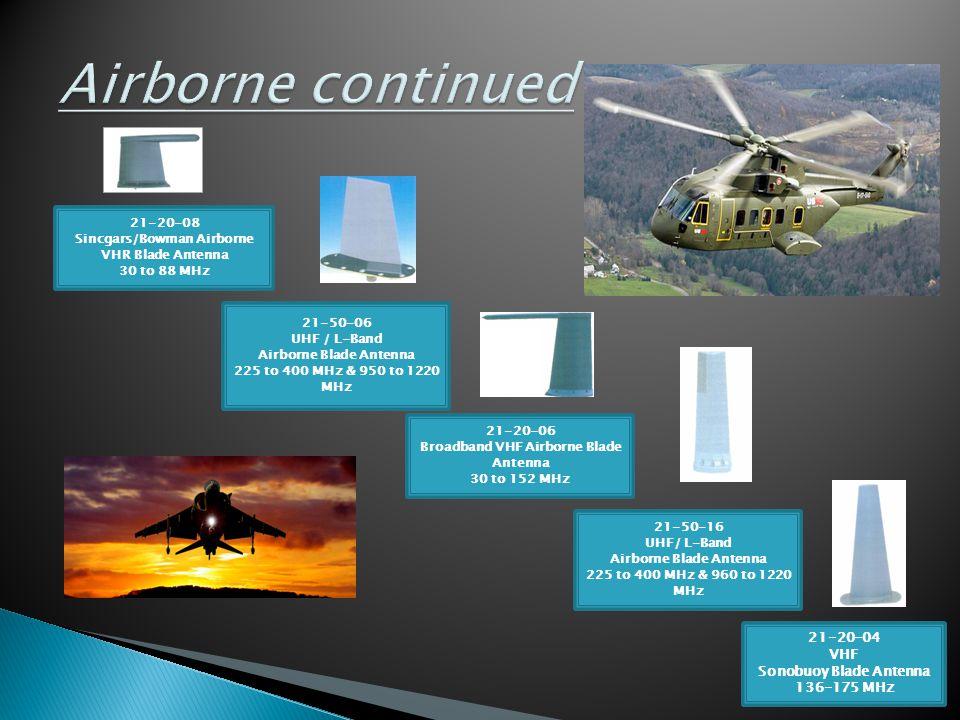 Airborne continued 21-20-08 Sincgars/Bowman Airborne VHR Blade Antenna