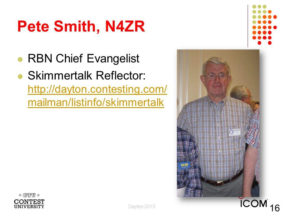 Pete Smith, N4ZR RBN Chief Evangelist
