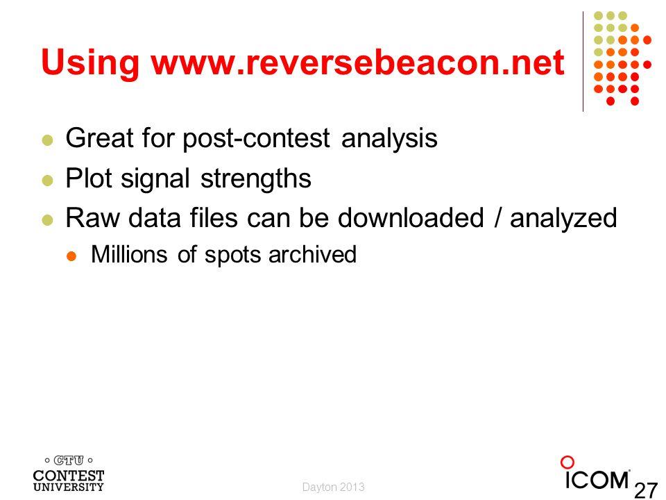 Using www.reversebeacon.net