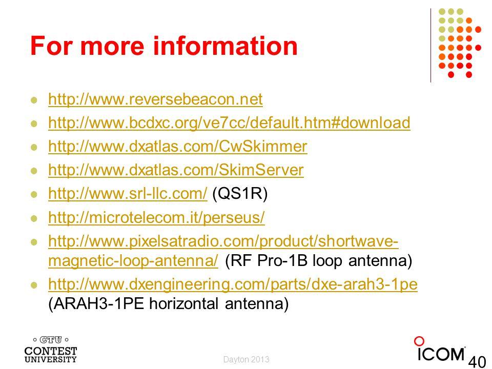 For more information http://www.reversebeacon.net