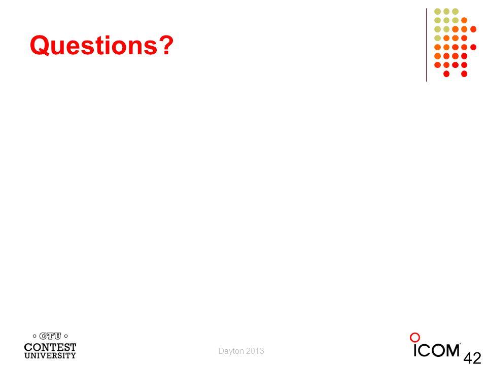 Questions Dayton 2013 42