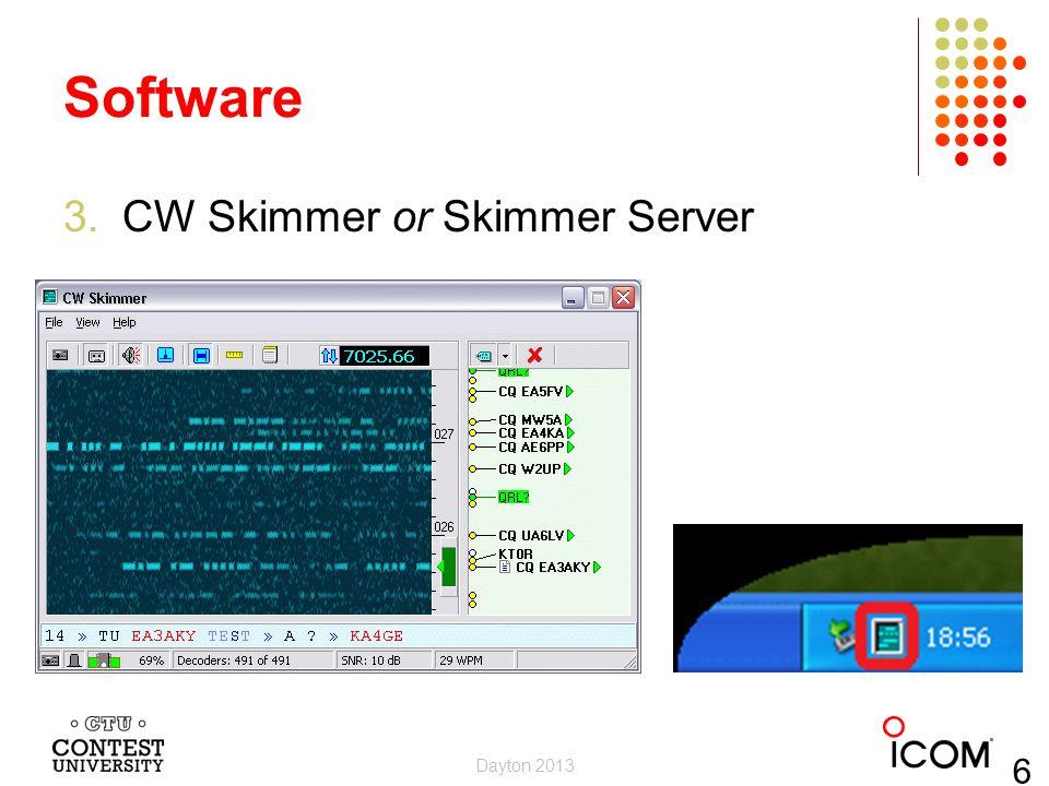 Software CW Skimmer or Skimmer Server Dayton 2013 6