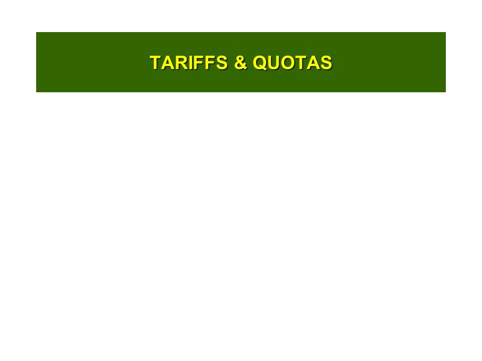TARIFFS & QUOTAS