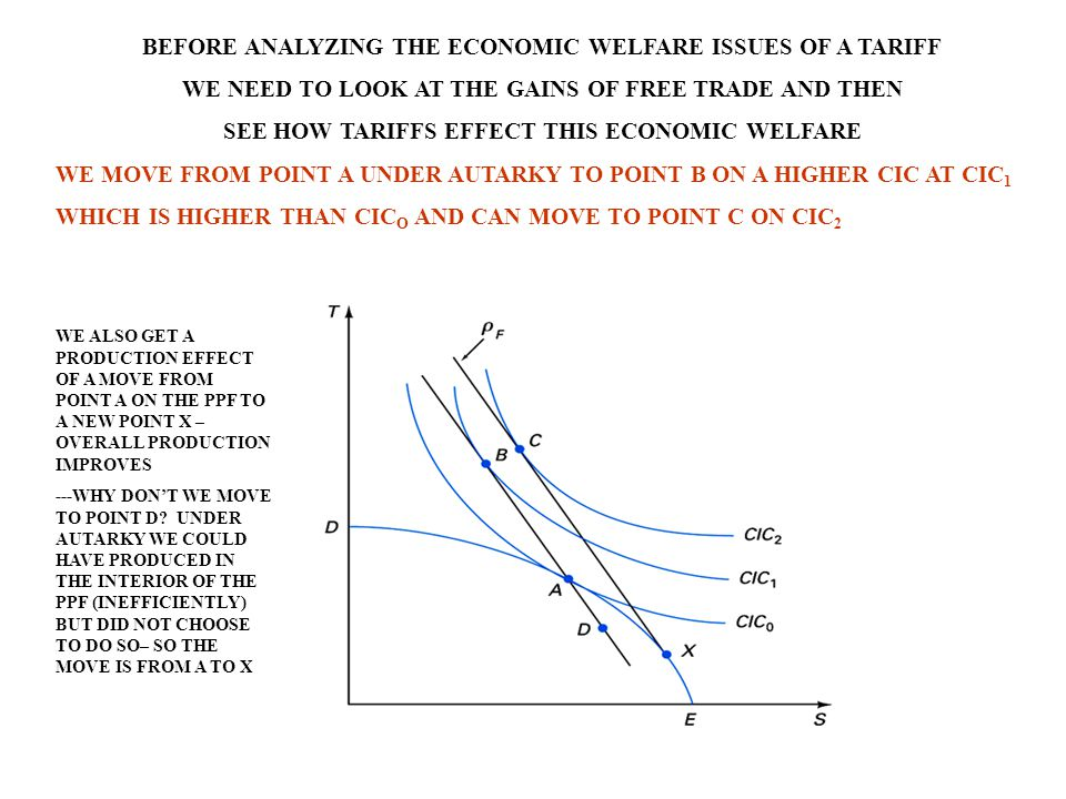 BEFORE ANALYZING THE ECONOMIC WELFARE ISSUES OF A TARIFF