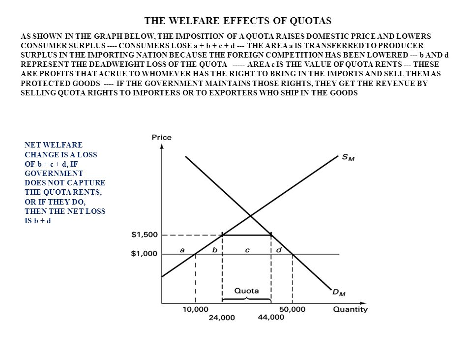 THE WELFARE EFFECTS OF QUOTAS
