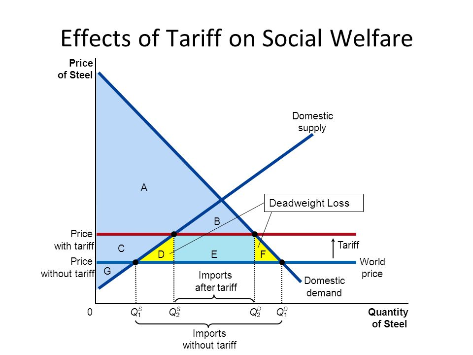 Effects of Tariff on Social Welfare