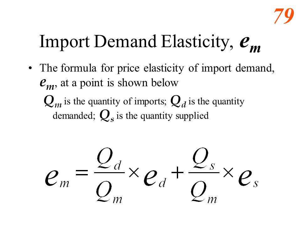 Import Demand Elasticity, em