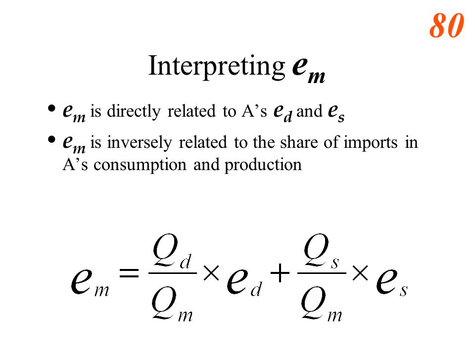 Interpreting em em is directly related to A's ed and es