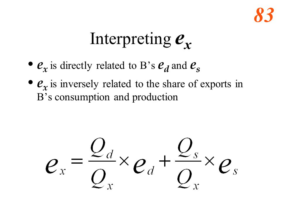 Interpreting ex ex is directly related to B's ed and es