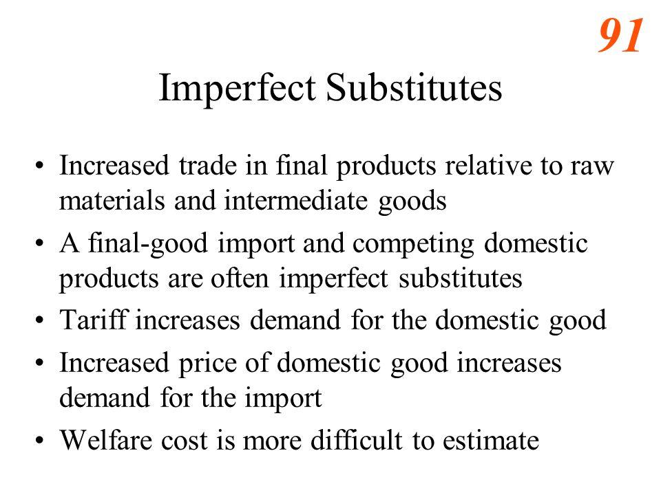 Imperfect Substitutes