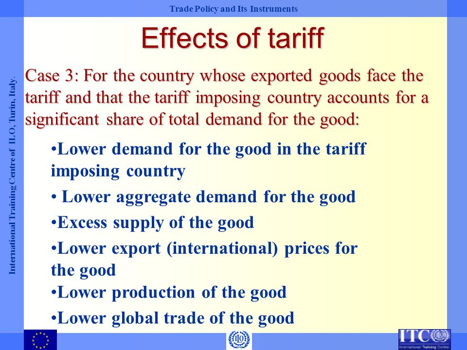 Effects of tariff