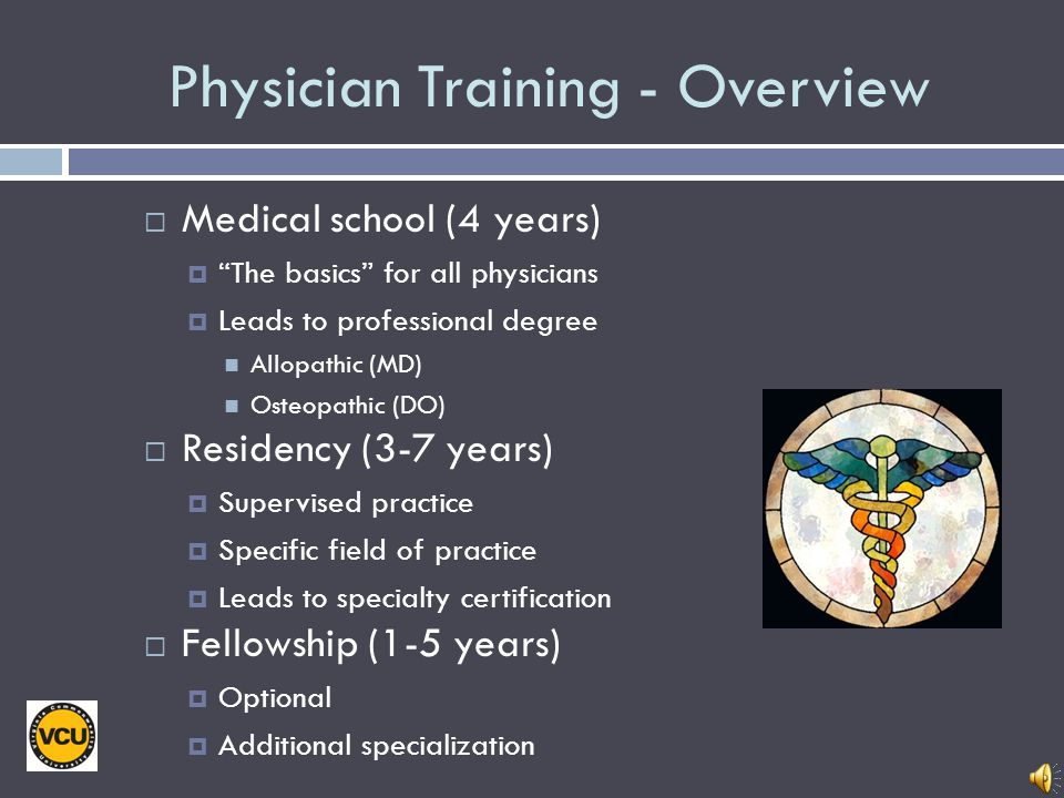 Physician Training - Overview