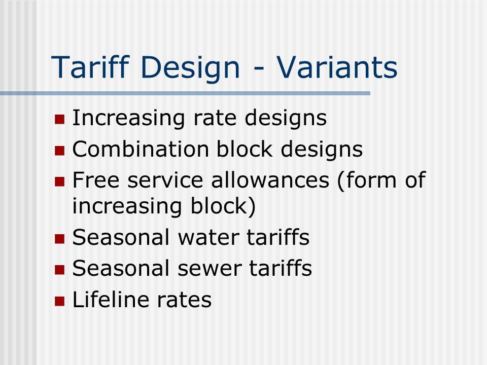 Tariff Design - Variants