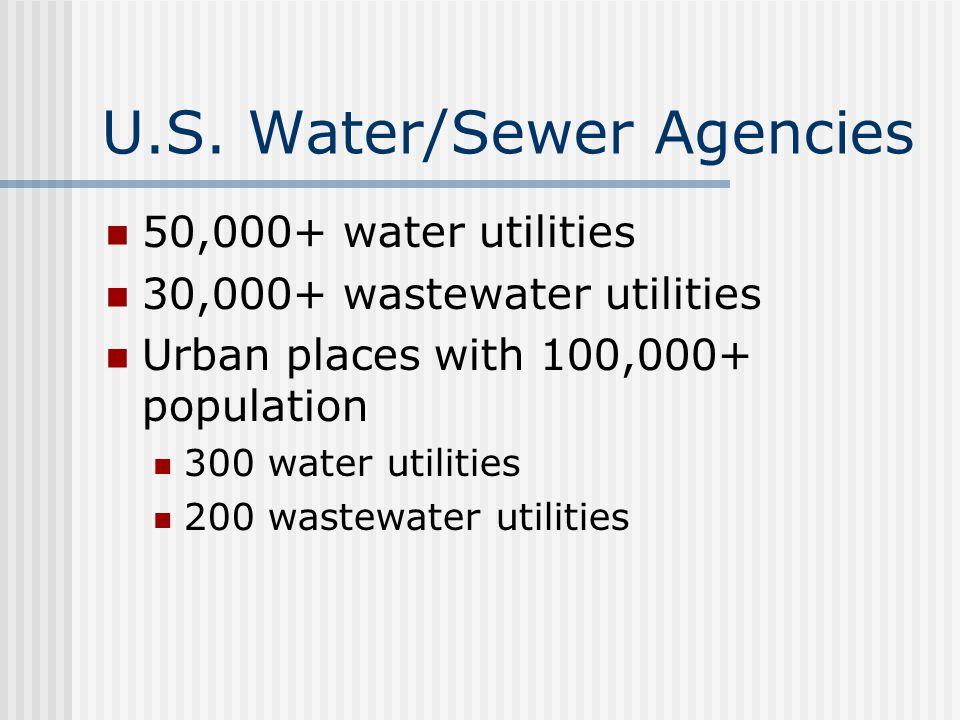 U.S. Water/Sewer Agencies