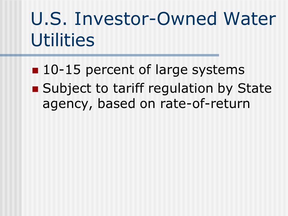 U.S. Investor-Owned Water Utilities