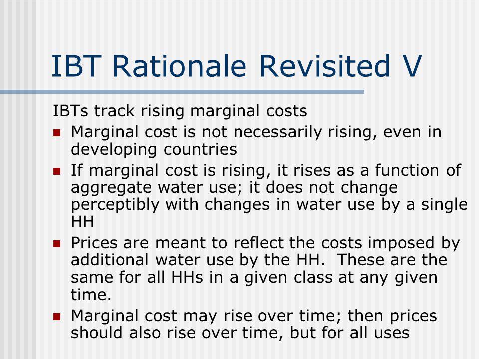 IBT Rationale Revisited V