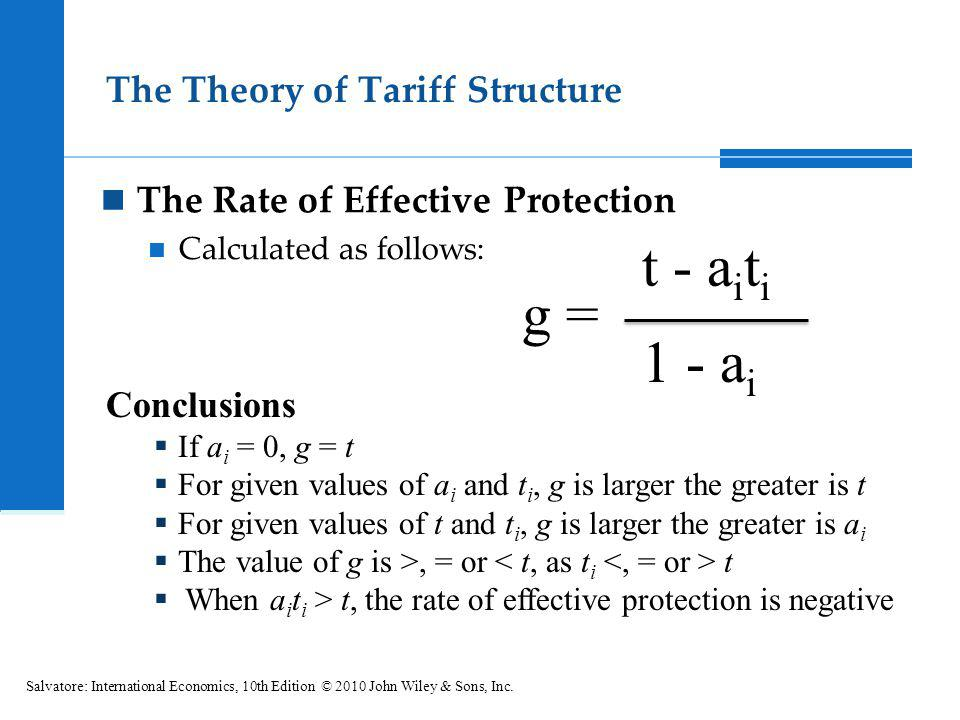 The Theory of Tariff Structure