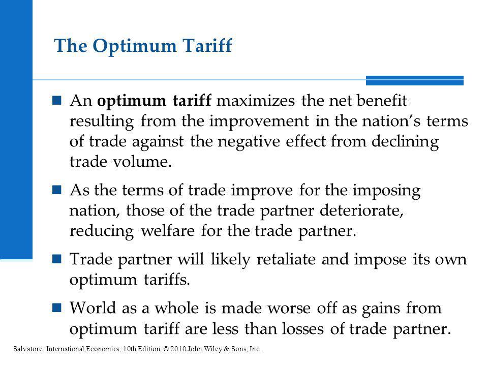 The Optimum Tariff