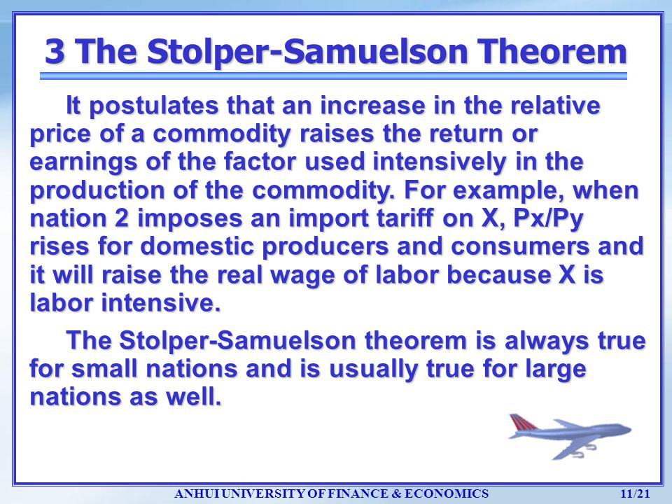 3 The Stolper-Samuelson Theorem