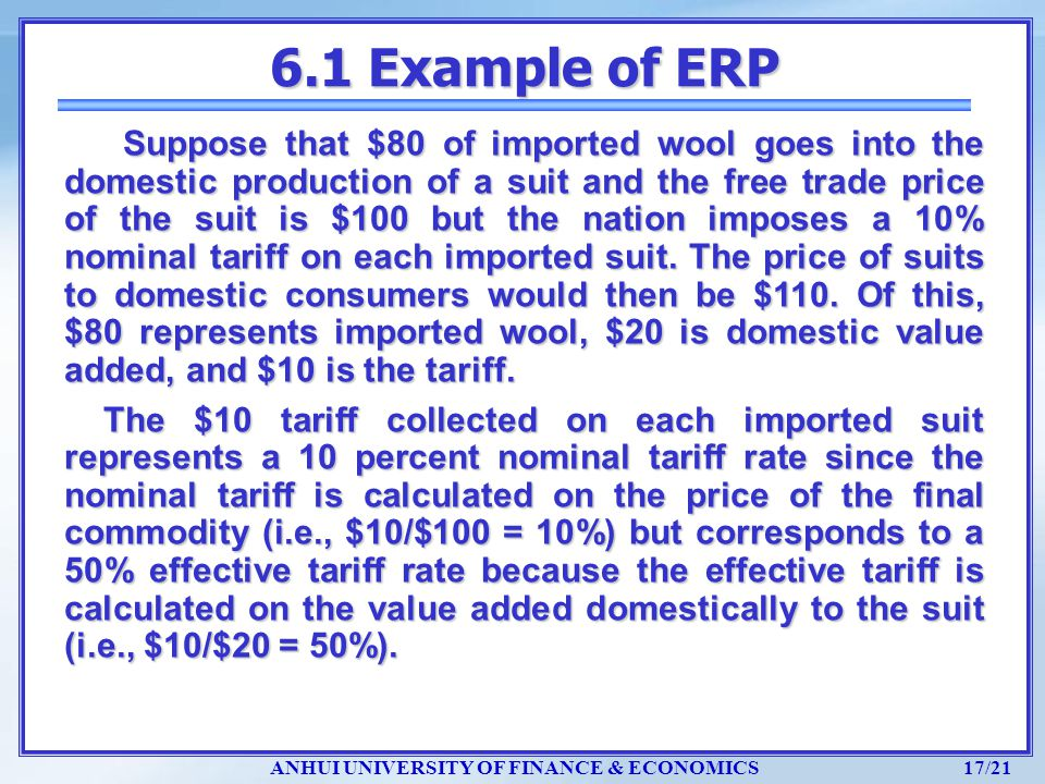6.1 Example of ERP