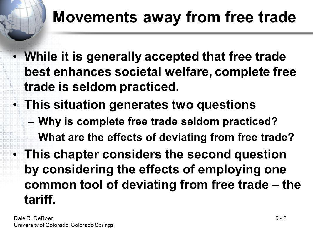 Movements away from free trade