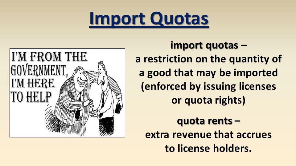 Import Quotas import quotas –