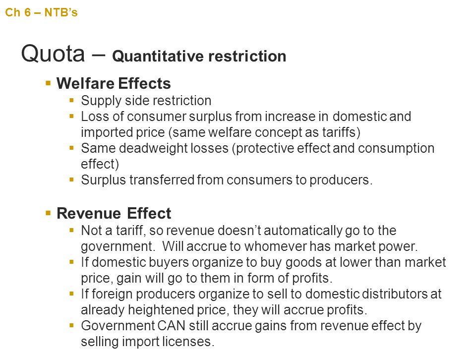 Quota – Quantitative restriction