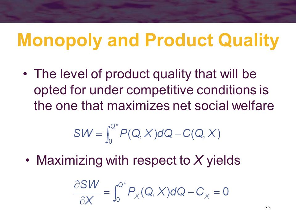 Monopoly and Product Quality
