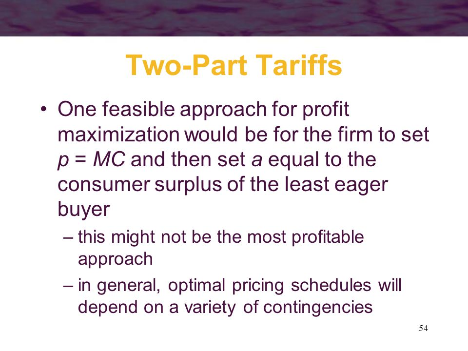 Two-Part Tariffs