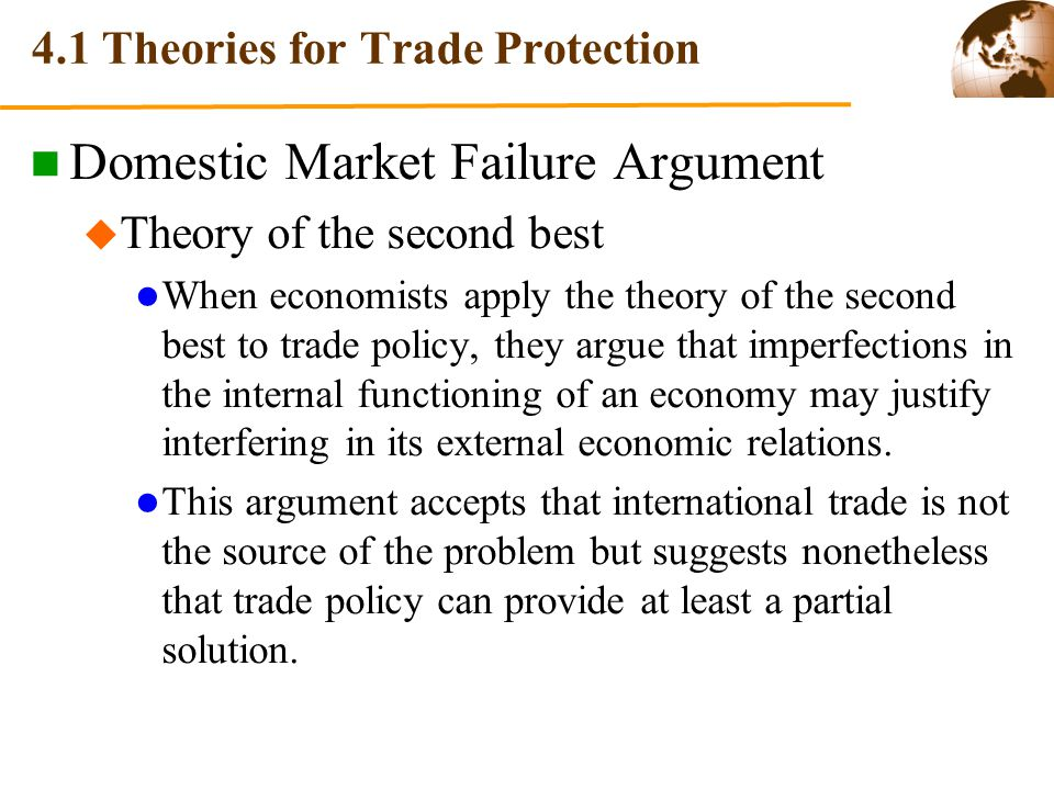 4.1 Theories for Trade Protection