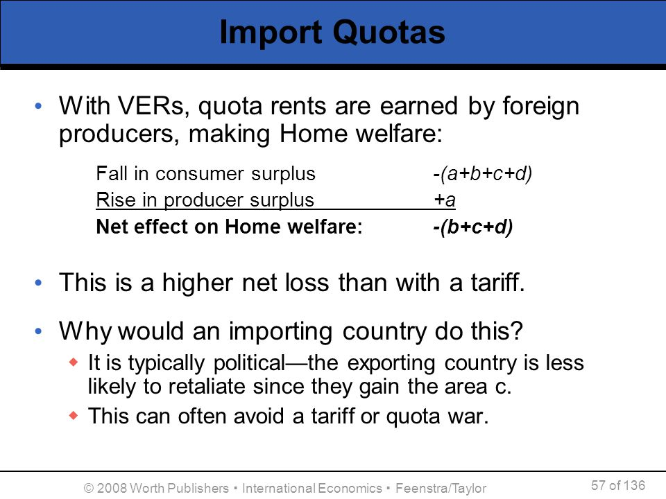 © 2008 Worth Publishers ▪ International Economics ▪ Feenstra/Taylor