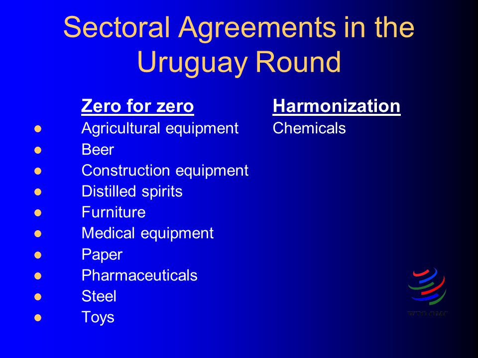 Sectoral Agreements in the Uruguay Round