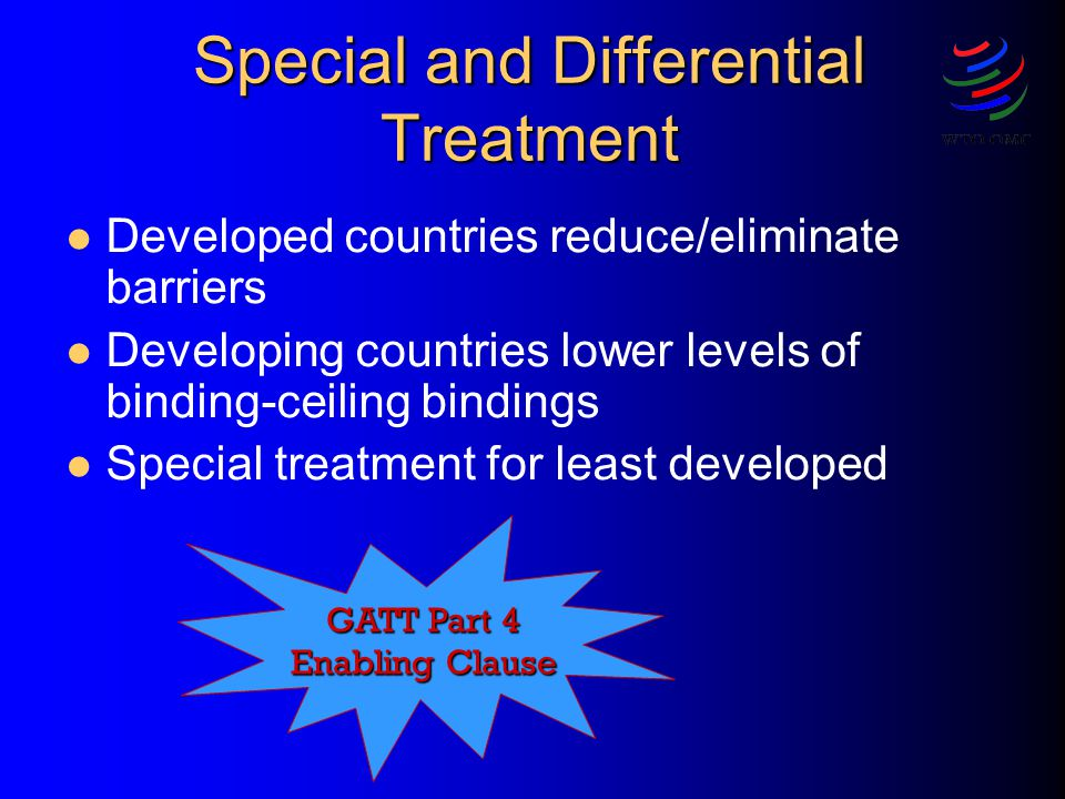 Special and Differential Treatment