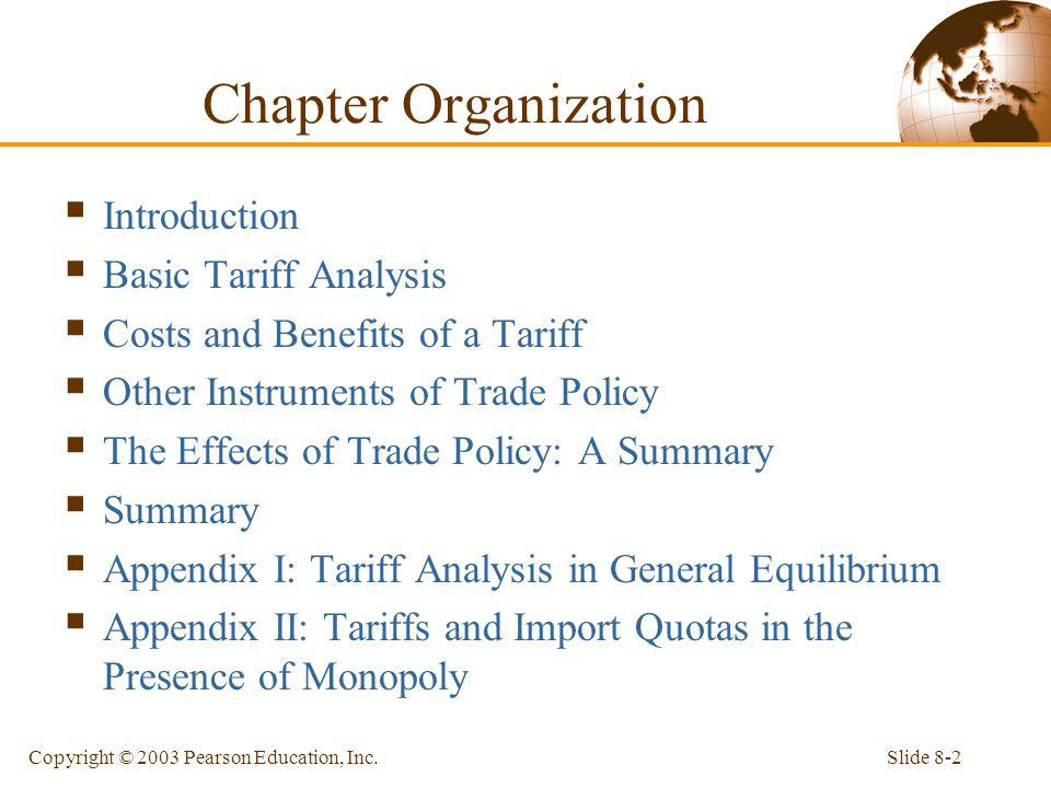 Chapter Organization Introduction Basic Tariff Analysis