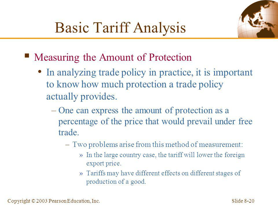 Basic Tariff Analysis Measuring the Amount of Protection