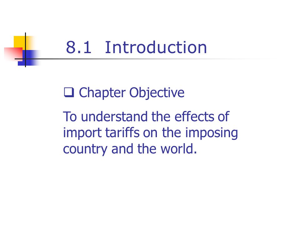 8.1 Introduction Chapter Objective