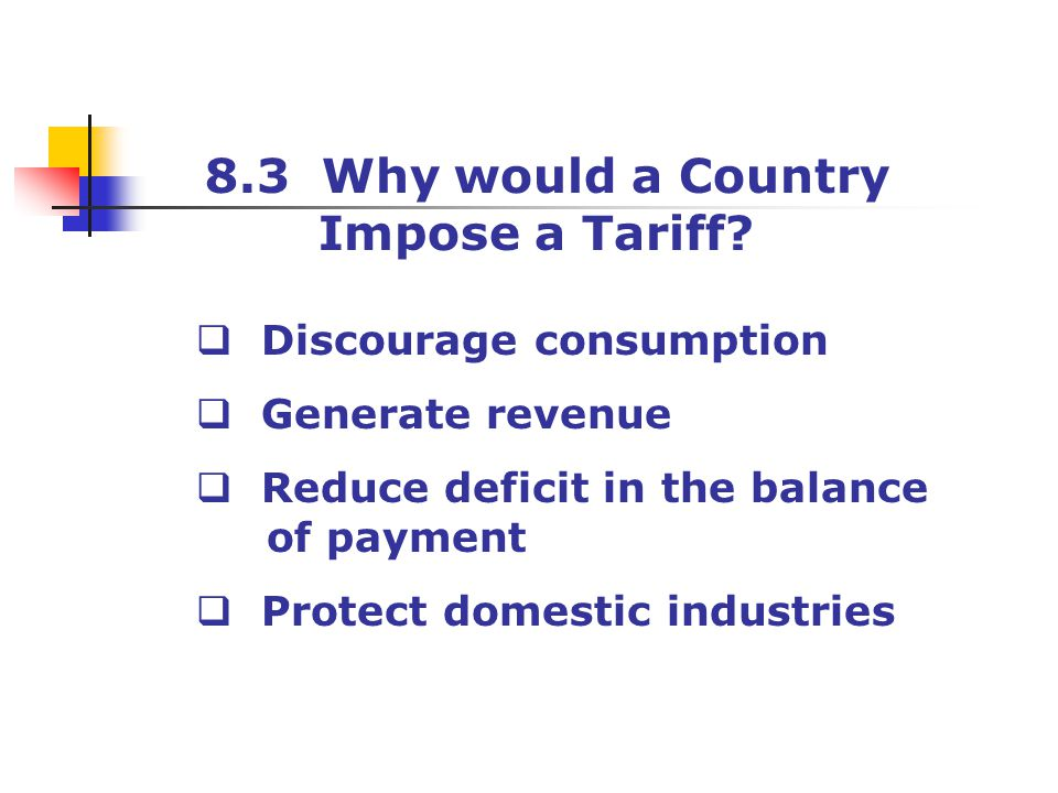 8.3 Why would a Country Impose a Tariff Discourage consumption